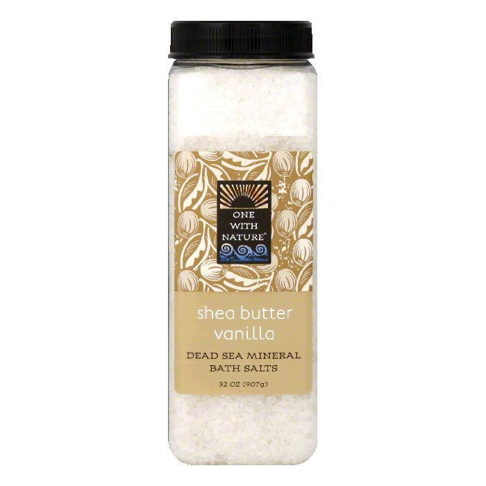 One with Nature Shea Butter Vanilla Dead Sea Mineral Bath Salts, 32 Oz
