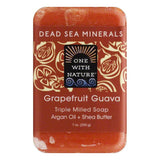 One With Nature GrapeFruit Guava Triple Milled Soap, 7 Oz