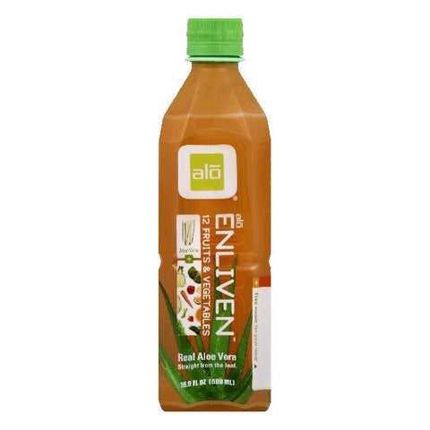Alo Enliven Real Aloe Vera, 16.9 OZ (Pack of 12)