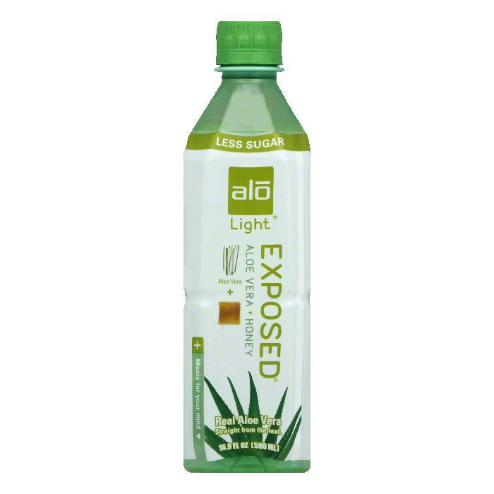 Alo Exposed Aloe Vera + Honey Light Aloe Vera, 16.9 FO (Pack of 12)
