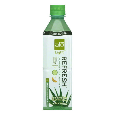 Alo Refresh Cucumber + Cantaloupe Light Aloe Vera, 16.9 FO (Pack of 12)