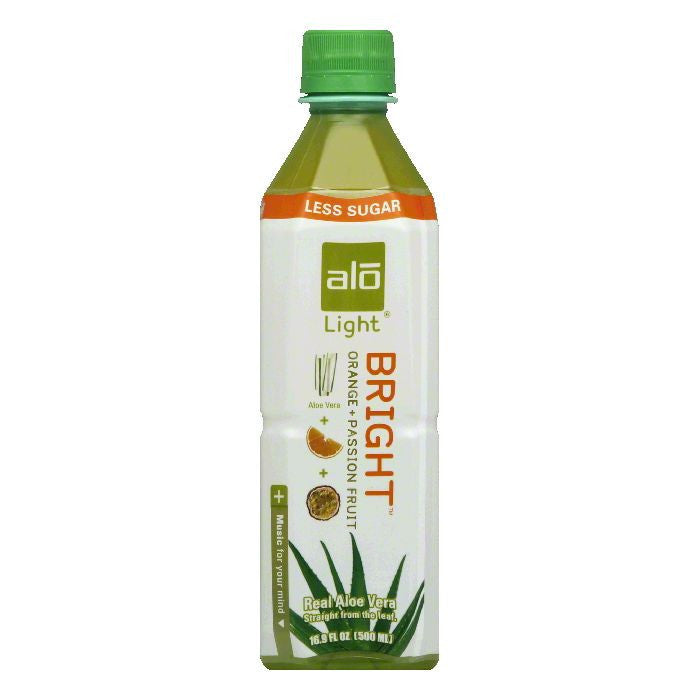 Alo Bright Orange + Passion Fruit Light Aloe Vera, 16.9 FO (Pack of 12)