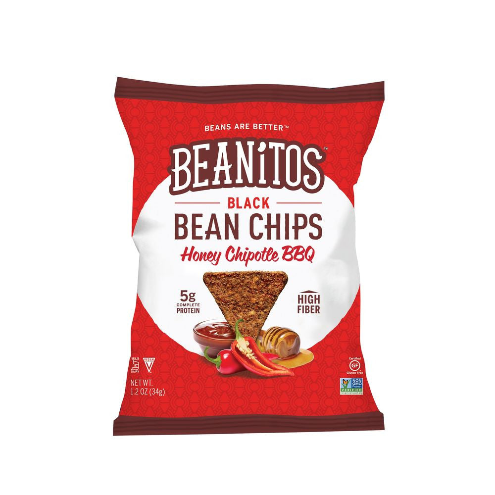 Beanitos Black Bean Chips Honey Chipotle BBQ, 1.2 OZ (Pack of 24)