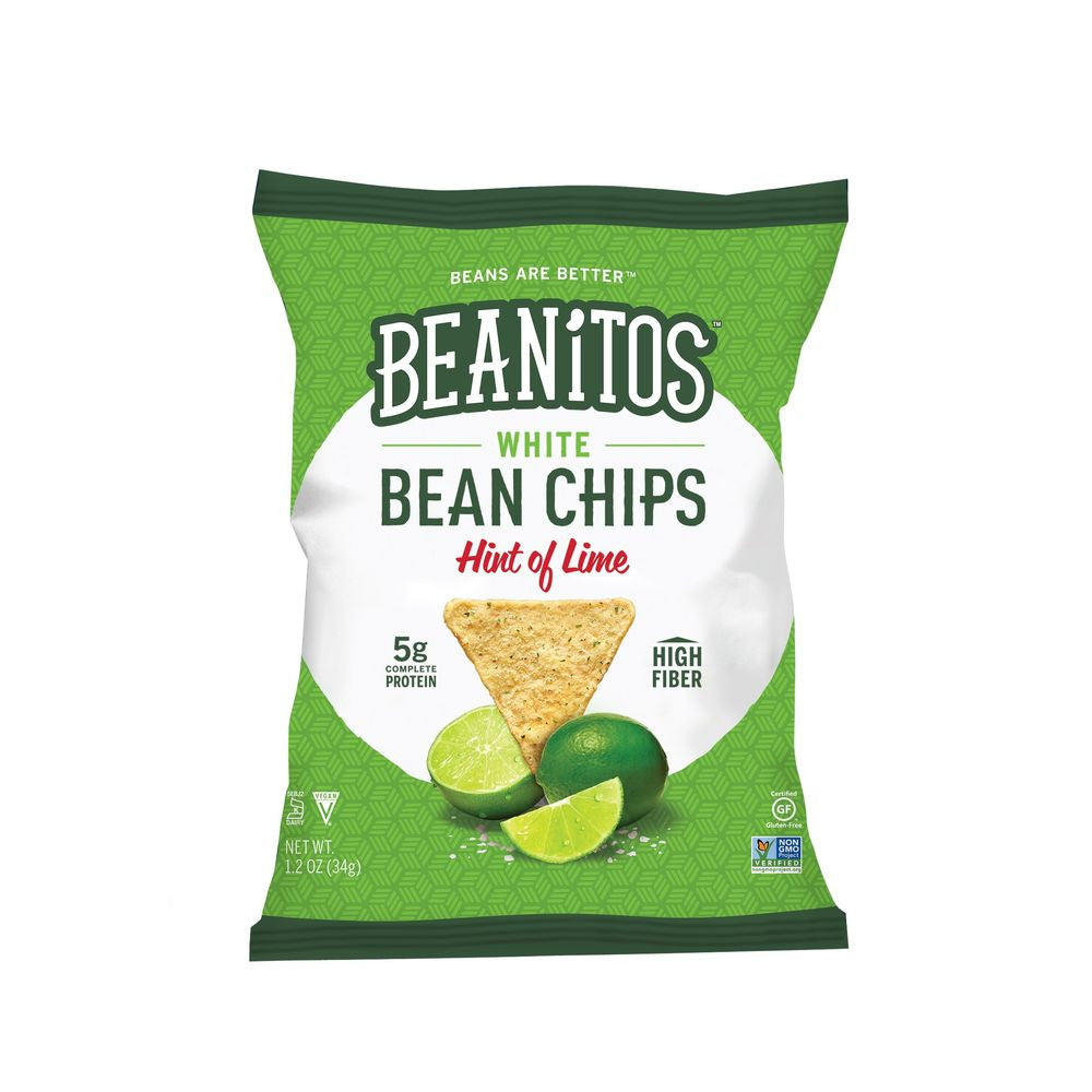 Beanitos White Bean Chips Hint of Lime, 1.2 OZ (Pack of 24)