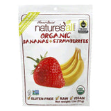 Natures All Foods Freeze-Dried Organic Bananas + Strawberries, 1.8 Oz (Pack of 12)