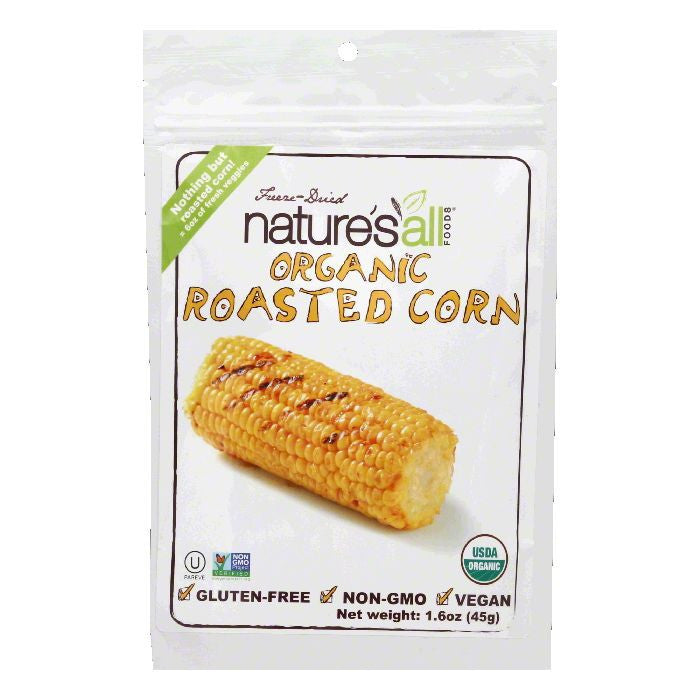 Natures All Foods Freeze-Dried Organic Roasted Corn, 1.6 Oz (Pack of 12)