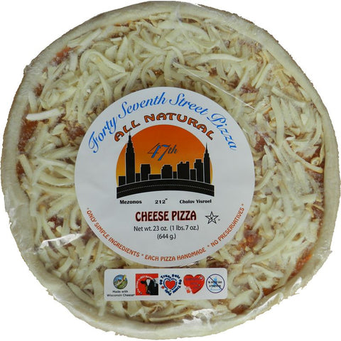 "47th Street 12"" Cheese Pizza Hand Rolled White Crust, 23 oz, (Pack of 6)"