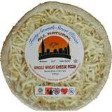 "47th Street 12"" Cheese Pizza Hand Rolled Whole Wheat Crust, 23 oz, (Pack of 6)"