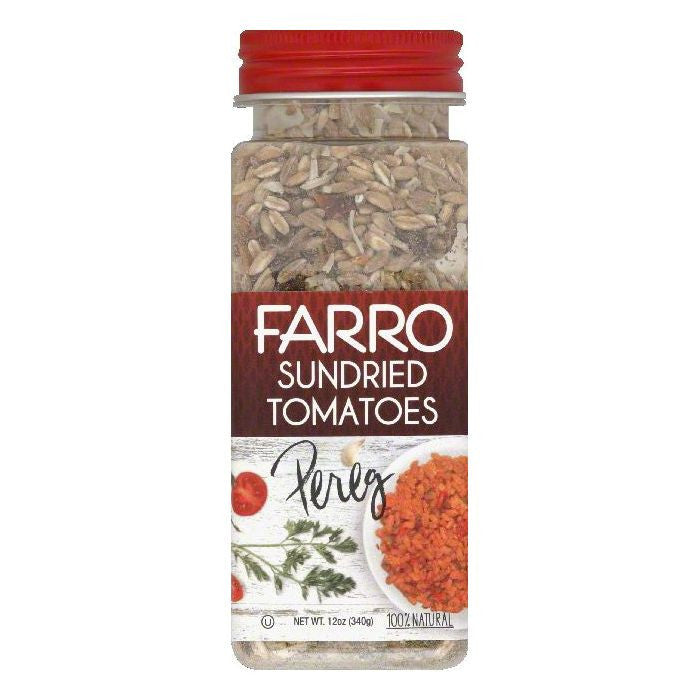Pereg Sundried Tomatoes Farro, 12 OZ (Pack of 6)