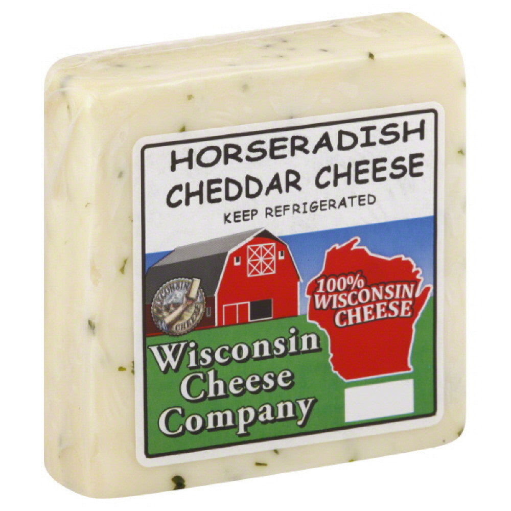 Wisconsin Cheese Horseradish Cheddar Cheese, 7.75 Oz (Pack of 8)