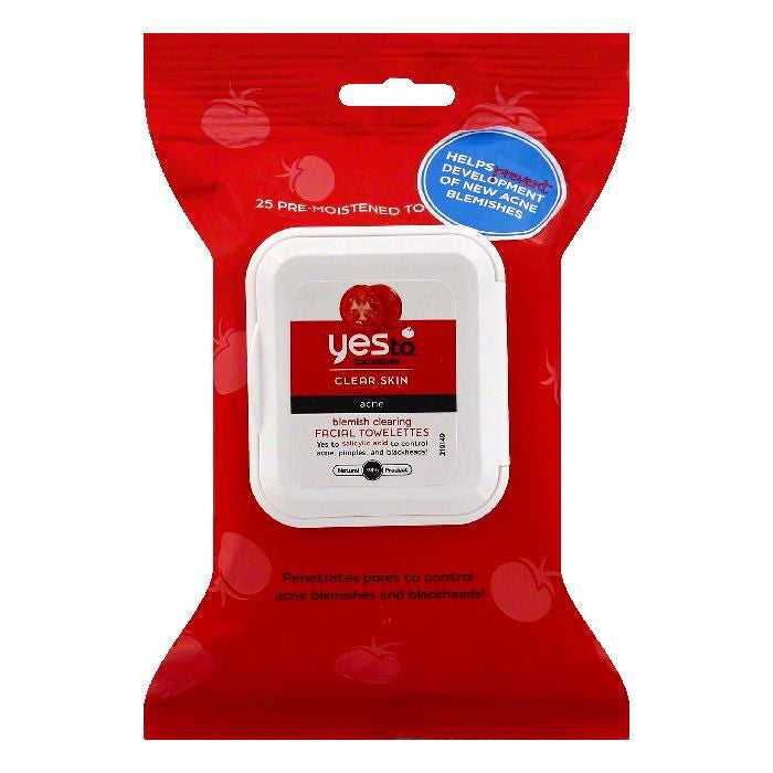 Yes To Acne Blemish Clearing Facial Towelettes, 25 PC (Pack of 3)