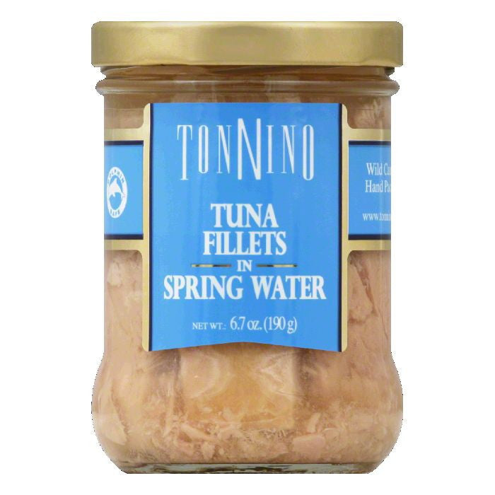 Tonnino in Spring Water Tuna Fillets, 6.7 Oz (Pack of 6)