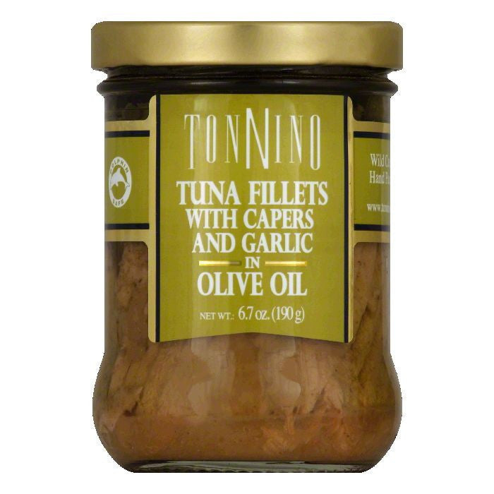 Tonnino Tuna Flt Capers Garlic Olive, 6.7 OZ (Pack of 6)