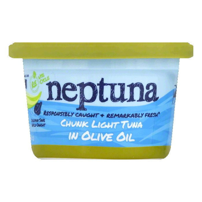 Neptuna in Olive Oil Chunk Light Tuna, 5.64 Oz (Pack of 12)