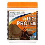 Growing Naturals Chocolate Power Brown Rice Protein Powder, 16.8 OZ