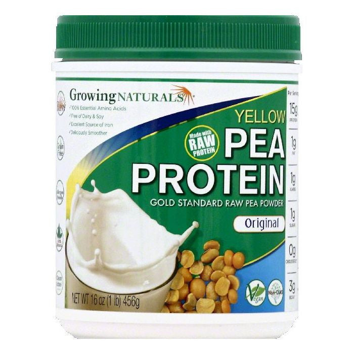 Growing Naturals Original Yellow Pea Protein, 16 OZ