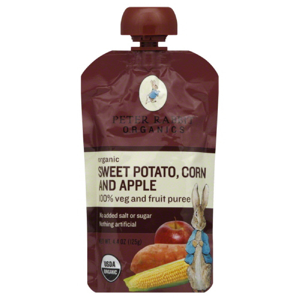 Peter Rabbit Corn and Apple Sweet Potato Organic1 Veg and Fruit Puree, 4.4 Oz (Pack of 10)