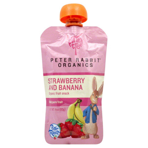 Pumpkin Tree Strawberry and Banana Organic Fruit Snack, 4 Oz (Pack of 10)