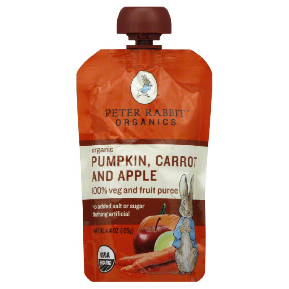 Peter Rabbit Carrot and Apple Pumpkin Organic1 Veg and Fruit Puree, 4.4 Oz (Pack of 10)