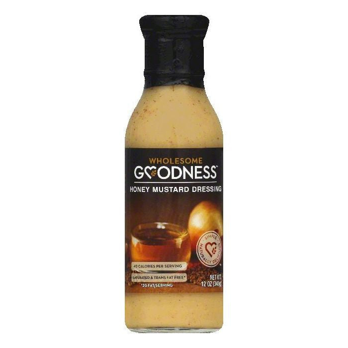 Wholesome Goodness Honey Mustard Dressing, 12 OZ  ( Pack of  6)