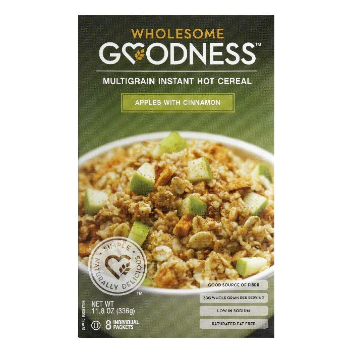 Wholesome Goodness Apples with Cinnamon Multigrain Instant Hot Cereal, 11.8 Oz (Pack of 12)
