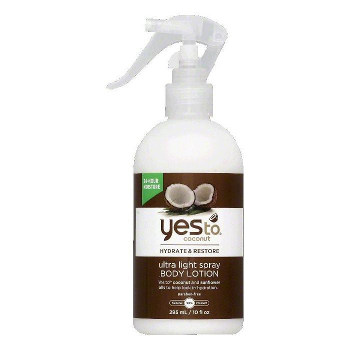 Yes To Ultra Light Spray Body Lotion, 10 OZ