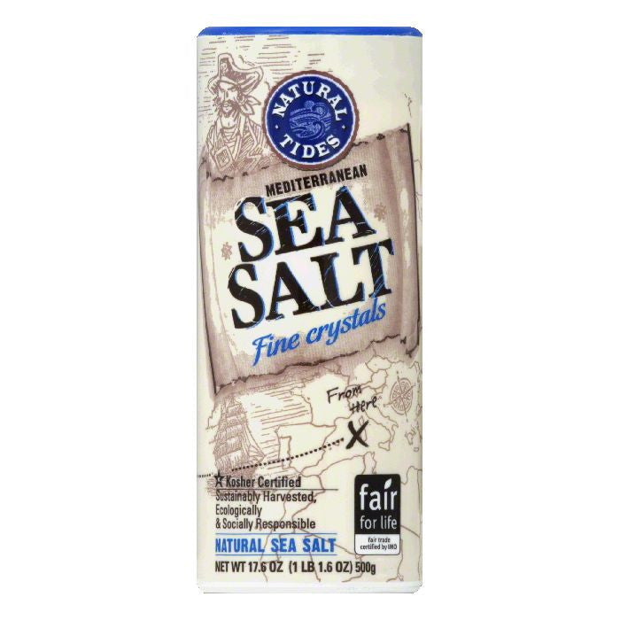 Natural Nectar Sea Salt Mediterranean Fine, 17.6 OZ (Pack of 12)