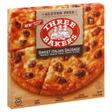 Three Bakers Sweet Italian Sausage Whole Grain Thin Crust Pizza, 9.5 Oz (Pack of 8)