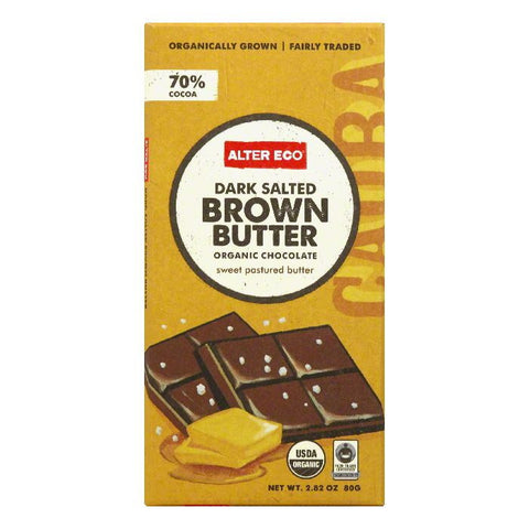 Alter Eco Dark Salted Brown Butter Organic Chocolate, 2.82 Oz (Pack of 12)