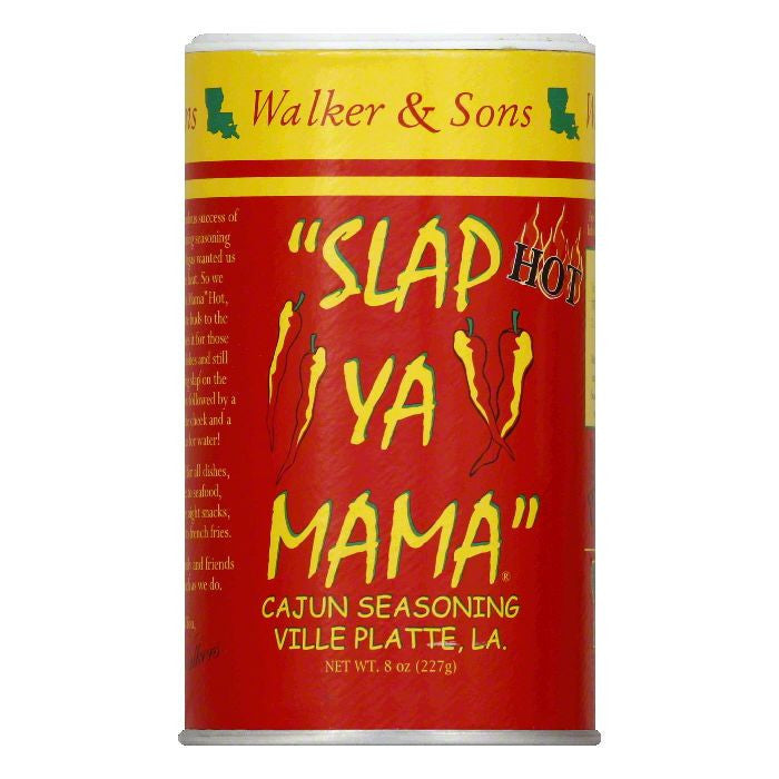 Slap Ya Mama Hot Seasoning, 8 OZ (Pack of 12)