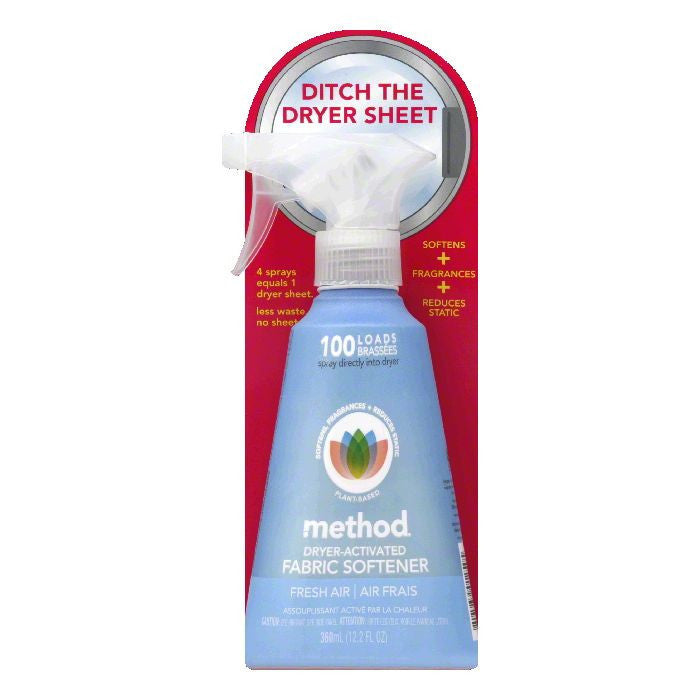 Method Fresh Air Dryer-Activated Fabric Softener, 12.2 FO (Pack of 6)