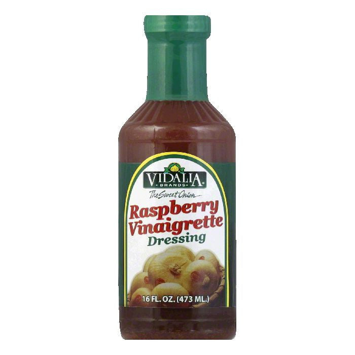 Vidalia Brand Sweet Onion Raspberry Vinaigrette Dressing, 16 OZ (Pack of 6)