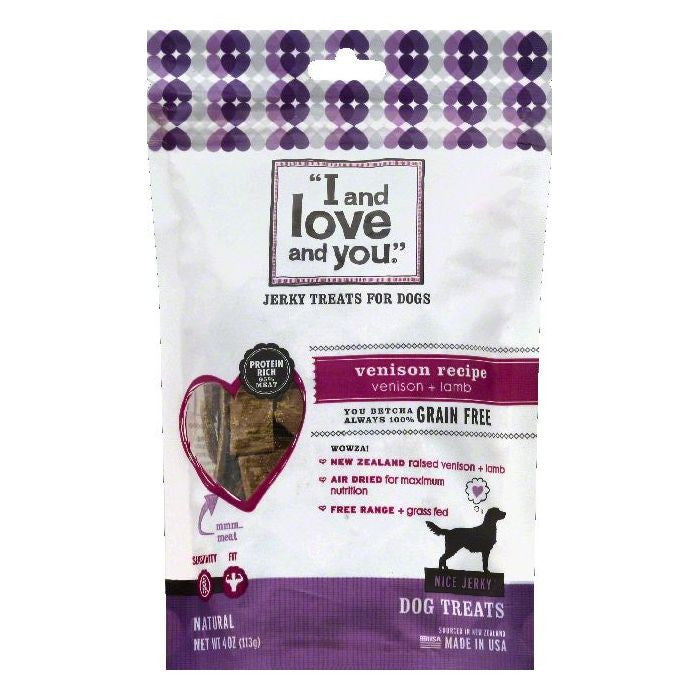 I and love and you Venison Recipe Dog Treats, 4 OZ (Pack of 6)