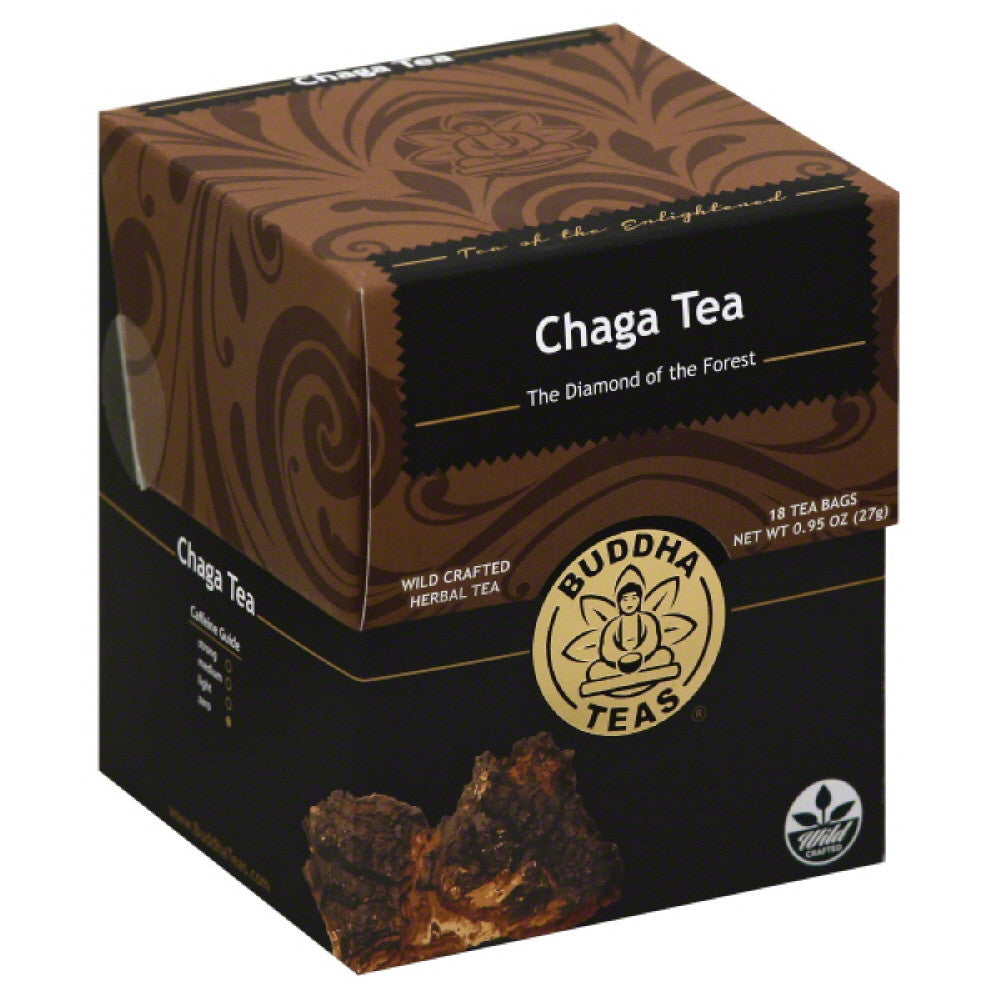 Buddha Teas Chaga Herbal Tea Bags, 18 Ea (Pack of 6)