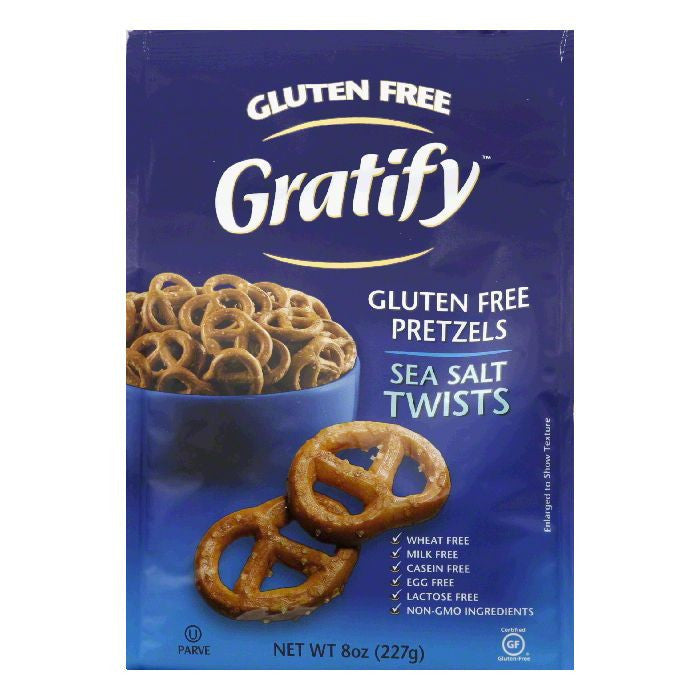 Gratify Pretzel Twist, 8 OZ (Pack of 6)