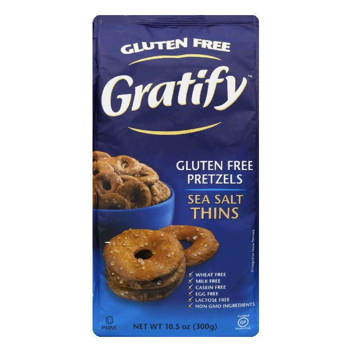 Gratify Pretzel Thin Gluten Free, 6 OZ (Pack of 6)