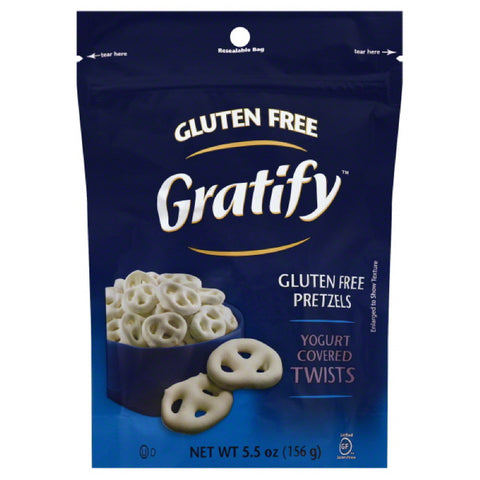 Gratify Yogurt Covered Twists Gluten Free Pretzels, 5.5 Oz (Pack of 8)