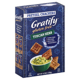 Gratify Tuscan Herb Pretzel Crackers, 4.5 Oz (Pack of 12)