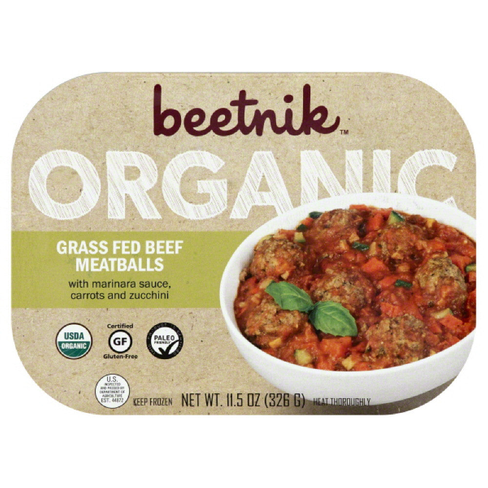Beetnik Organic Grass Fed Beef Meatballs, 11.5 Oz (Pack of 8)
