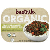 Beetnik Organic with Coconut Rice Thai Style Grass Fed Beef, 10 Oz (Pack of 8)
