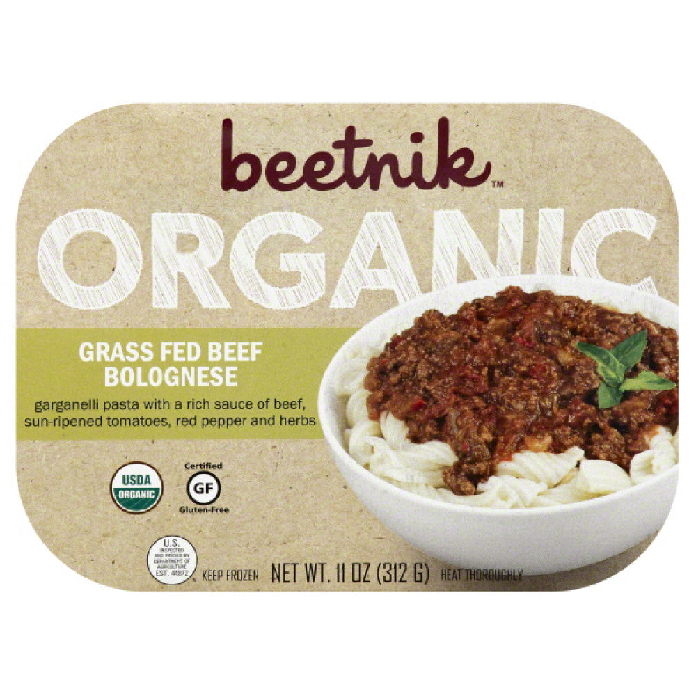 Beetnik Organic Grass Fed Beef Bolognese, 11 Oz (Pack of 8)