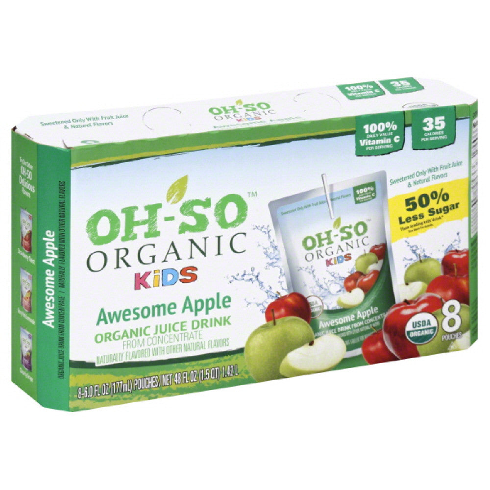 Oh So Awesome Apple Juice Drink, 48 Fo (Pack of 5)