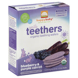 Happy Baby Blueberry & Purple Carrot Organic Gentle Teethers, 1.7 Oz (Pack of 6)
