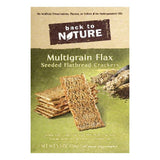 Back To Nature Multigrain Flax Seeded Flatbread Crackers, 5.5 OZ (Pack of 6)
