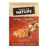 Back To Nature Cheddar Crispy Crackers, 7.5 OZ (Pack of 6)