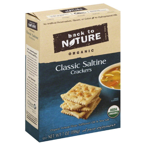 Back To Nature Classic Saltine Crackers, 7 Oz (Pack of 6)