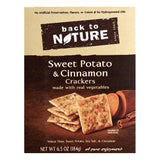 Back To Nature Sweet Potato & Cinnamon Crackers, 6.5 OZ (Pack of 6)