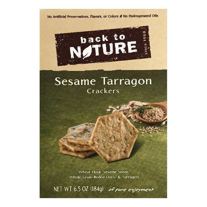 Back To Nature Sesame Tarragon Crackers, 6.5 OZ (Pack of 6)