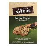 Back To Nature Poppy Thyme Crackers, 6.5 OZ (Pack of 6)