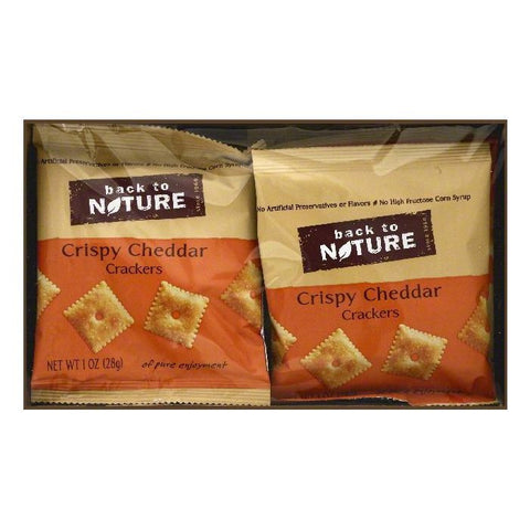 Back To Nature Crispy Cheddar Crackers, 8 ea (Pack of 4)
